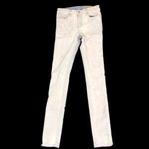 Diesel Skinzee Women's Light Wash Paint Jeans